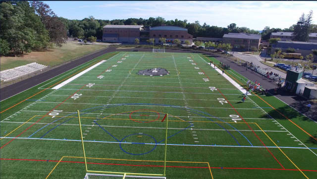 The Irvington Union Free School District will officially unveil the new Meszaros Field and Oley Track with a ribbon-cutting ceremony Saturday at 7 p.m.