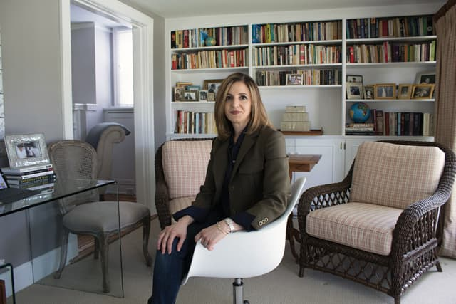 Michele Roque Tarazi in her Pelham Manor home. Photograph by Sebástian Flores.