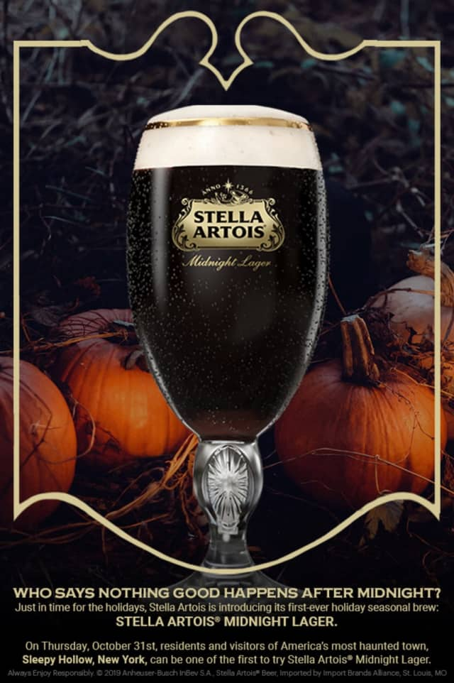 Midnight Lager will be given away for free on Halloween in Sleepy Hollow.