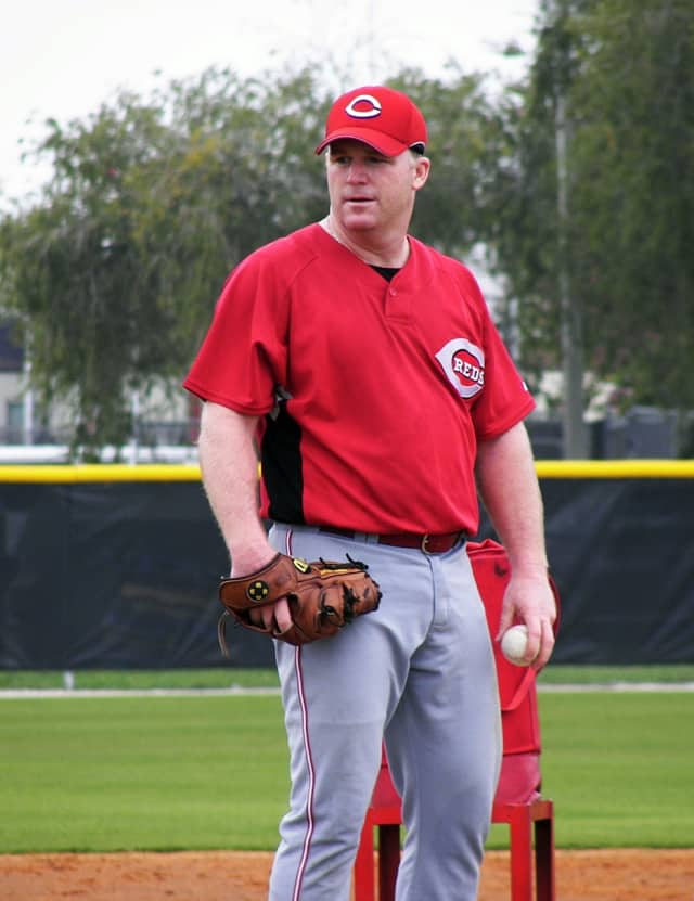 Mike Stanton, shown here in spring training in 2008, turns 50 this week.