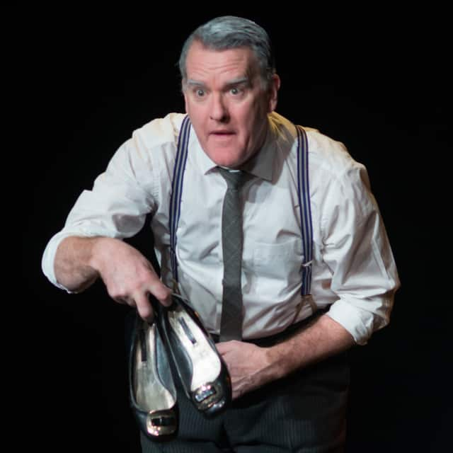 """Mikel Murphy will be performing """"The Man in the Women's Shoes"""" in Putnam."""