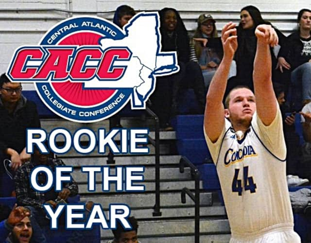 Three men's basketball players have been recognized by the CACC, including for Rookie of the Year.