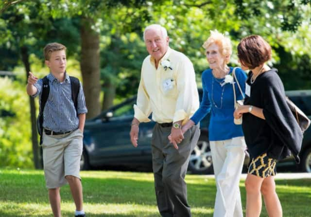 Close to 200 grandparents came to the Millbrook School Wednesday to tour its campus, accompany their grandchildren to classes and catch a few athletic events.