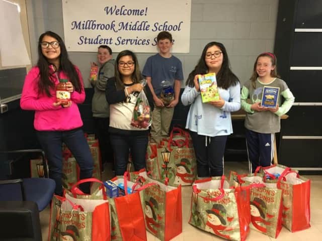Family University will be held at Millbrook Middle School, where students involved in the Jr. Interact Club recently collected donations and food for Thanksgiving Day food baskets for families in the Millbrook community.
