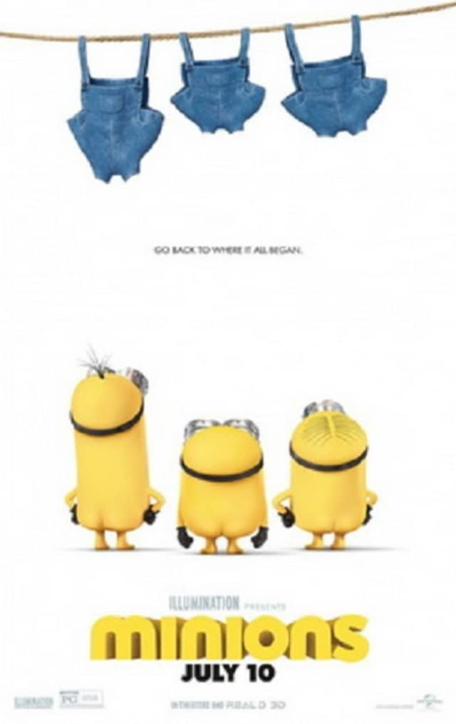 """The 3D computer-animated family comedy """"Minions"""" will be screened on Friday at Kenisco Dam Plaza in Valhalla."""