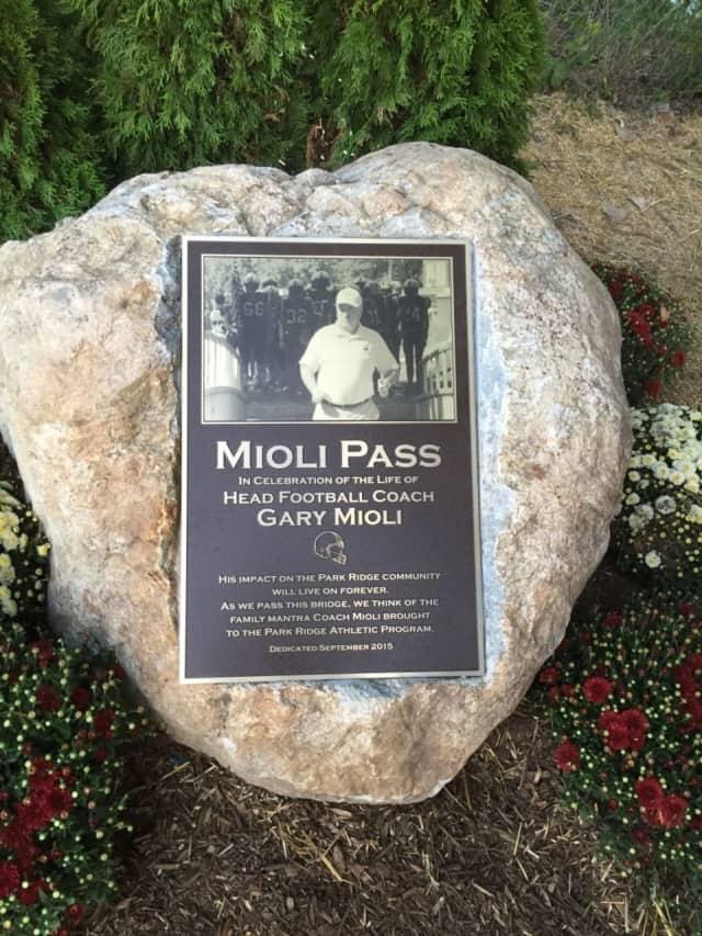 Mioli Pass remembers Park Ridge High School head football coach Gary Mioli.