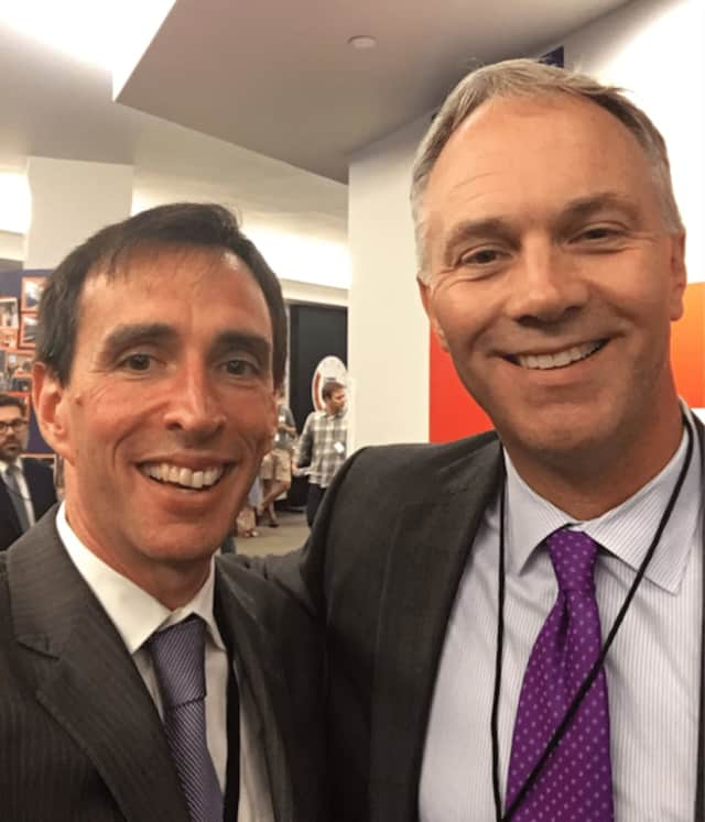 Mayor Noam Bramson of New Rochelle, left, and Mayor Jon Mitchell of New Bedford, Mass.