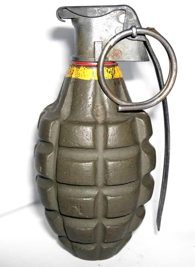 The discovery of a pineapple grenade at the Stamford dump by an employee closed the station for a short time on Wednesday.