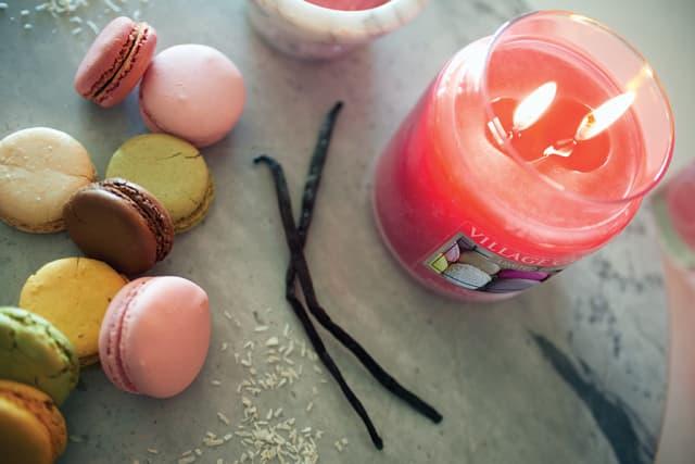 (2) Village Candle, $20.50 each, Villagecandle.com.