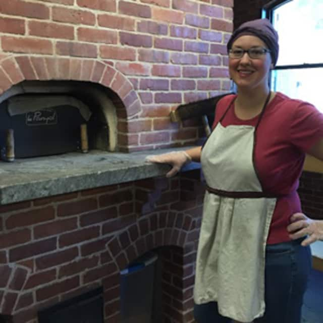 Former Monroe resident Tani Mauriello baked authentic 17th-century Colonial bread for the Webb-Deane-Stevens Museum's Thanksgiving dinner.