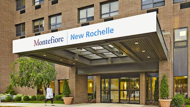 A man suffered a slash wound to the face, staff at Montefiore New Rochelle Hospital told police.