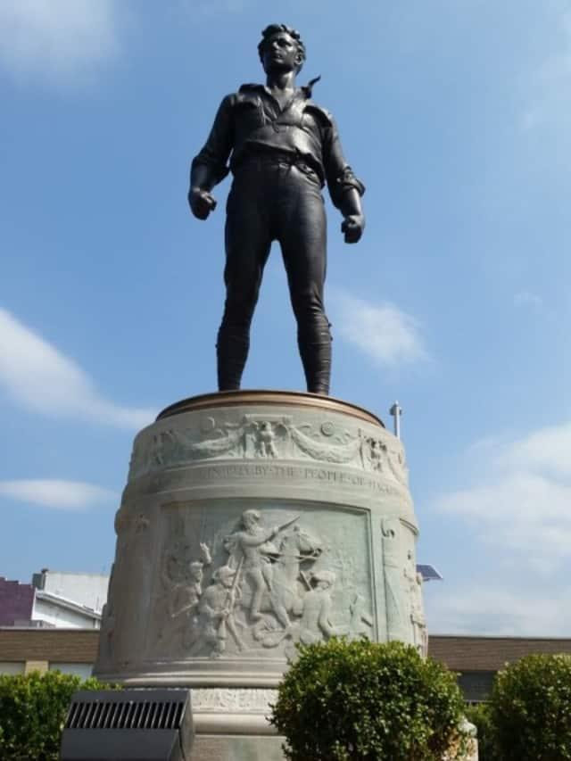 The war monument in Hackensack has been restored.