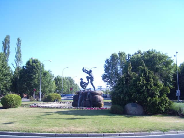 Monument to blood donors in Ávila, Spain.