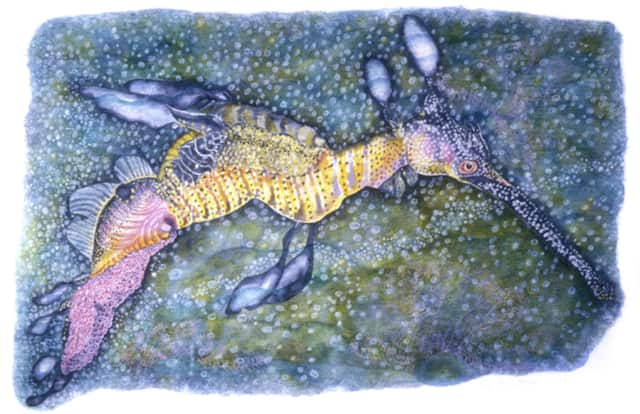 """""""Sea Dragon"""" by Nancy Moore is one of the pieces that will be on display at the """"Aqua"""" exhibit at the Maritime Garage Gallery in Norwalk."""