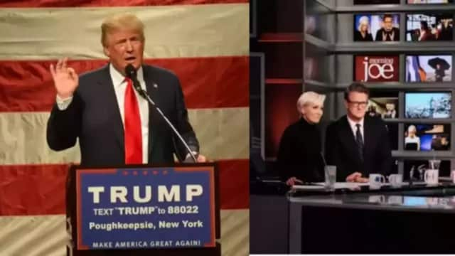 """President Donald Trump is continuing to fight with """"Morning Joe."""""""