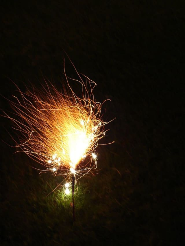 "A ""morning glory"" sparkler. New York now allows each county to offer regulated sales of sparklers, according to lohud.com."