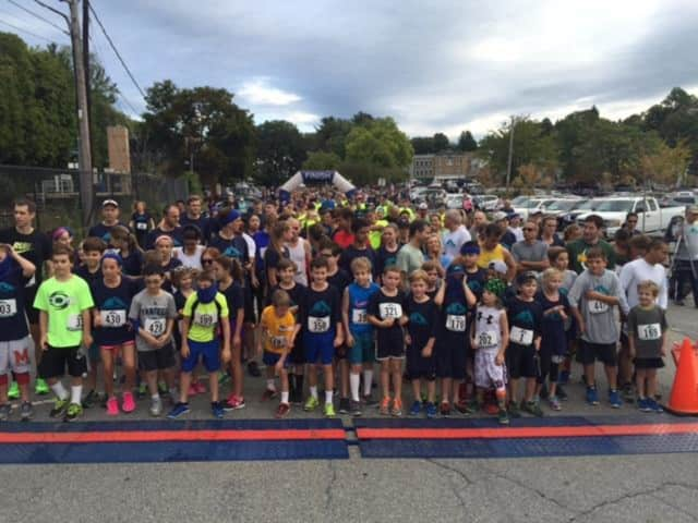 Participants wait for the starting gun at the Kisco 5k race in Mount Kisco on Sept. 20.