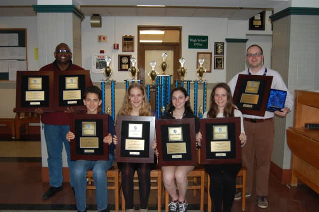 All seven of Hastings' performing ensembles received gold rating plaques.