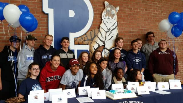 Putnam Valley honored its NCAA-bound athletes Wednesday.