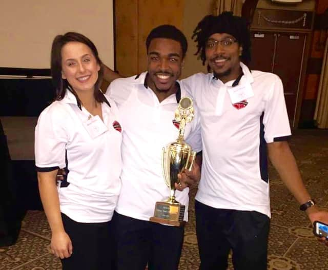 NCC students Melissa D'Agostino, Andre Aiken and Antoine Steward recently won the American College of Sports Medicine's North East Regional College Bowl Competition. They will compete in the national college bowl in May.
