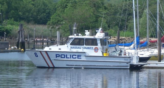 Nassau County Police marine patrols rescued a jet skier adrift on the Long Island Sound in Bayville.