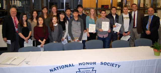 Northern Valley Regional High School Old Tappan inducts members into its honors society.