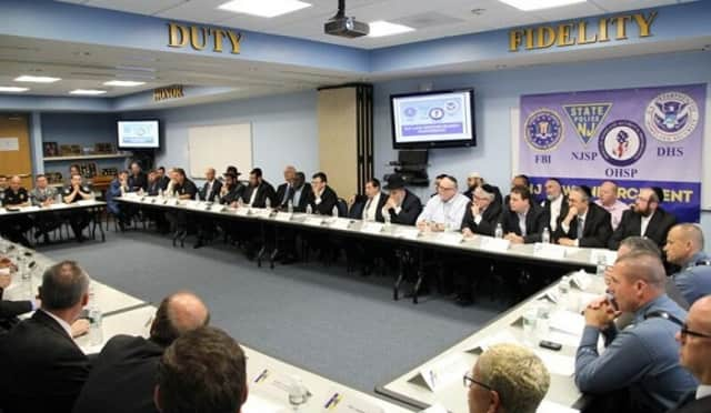 File photo from a previous law enforcement/faith-based gathering at the Totowa NJSP barracks.