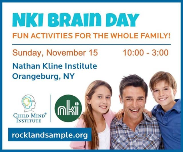 Families can learn about how the brain works at Nathan Kline Institute's Brain Day Nov. 15.