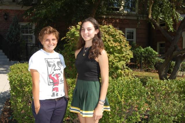 Hastings High School seniors Jordana Solomon, left, and Katharine Berman have been named semifinalists in 2016 National Merit Scholarship Program.