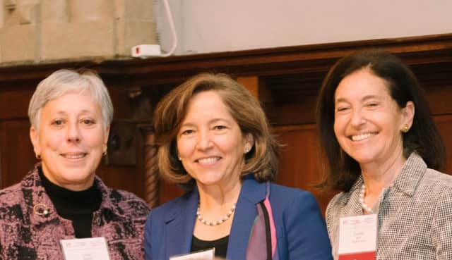 From left, New York Community Trust President Lorie A. Slutsky, Neighbors Link Executive Director Carola Bracco and Neighbors Link Board Chair Cynthia Brill.