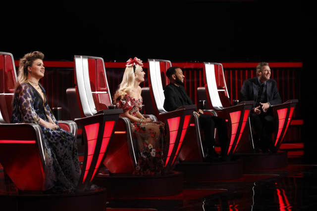 "NBC's ""The Voice"" judges Kelly Clarkson, Gwen Stefani, John Legend and Blake Shelton."