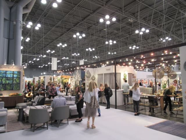 The NY NOW summer market at the Jacob K. Javits Convention Center in Manhattan draws an audience of interior designers, retailers and more. Photograph by Mary Shustack.