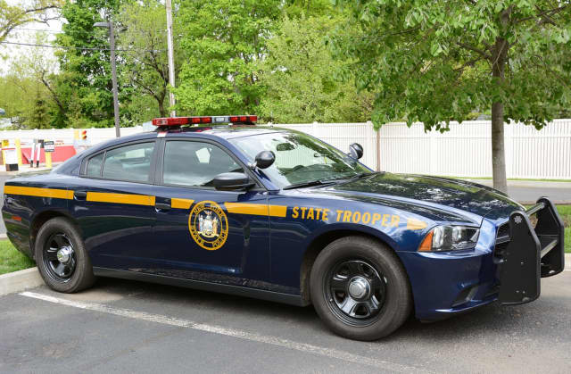 A New York State trooper was involved in a two-car crash in Yonkers.