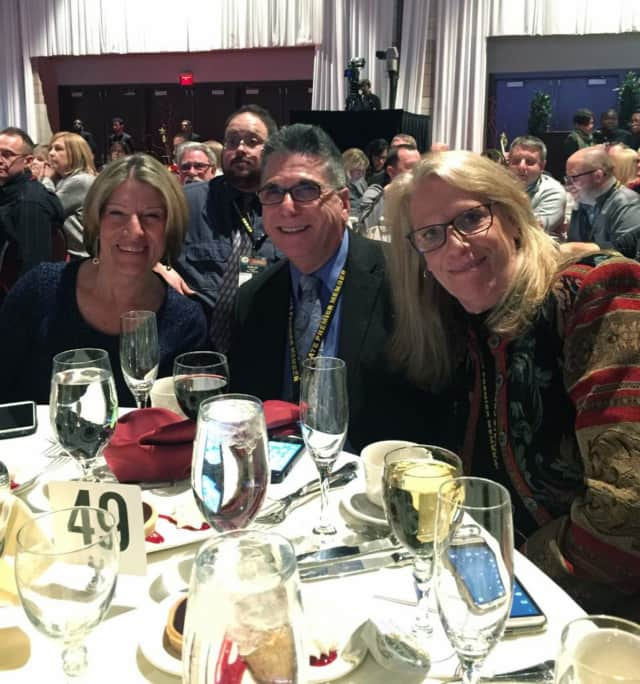 NYSCATE Volunteer Hall of Fame Recognition Award winners, from left: Linda Brandon, Dennis Lauro and Sarah Martabano.