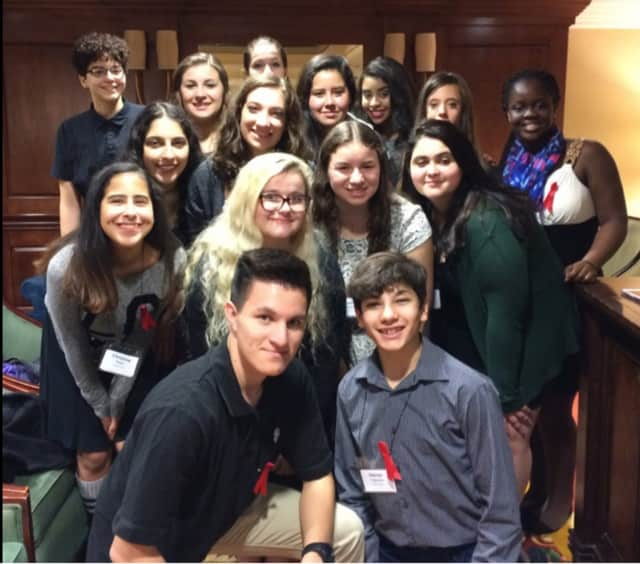 Members of the Harrison High School Footlight Players recently attended the student conference of New York State Theatre Education Association.