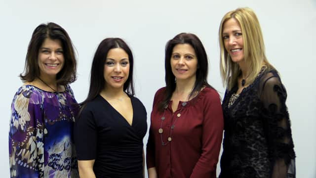 NY Health & Wellness' Nutritional Group: Jen Dorf, Jessica Santiago, Joy Rosaspina and Jacqui Justice, left to right.