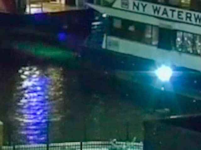 This photo is among the evidence included in the federal whistle-blower lawsuit filed against NY Waterway.