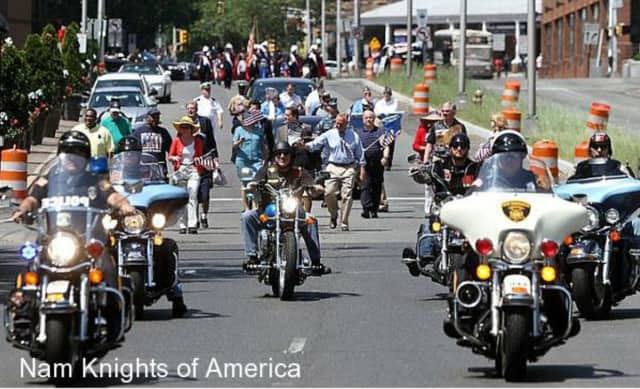 Nam Knights will leave their Carlstadt clubhouse Sunday morning on a scenic tour to raise money for high school students in Old Tappan.
