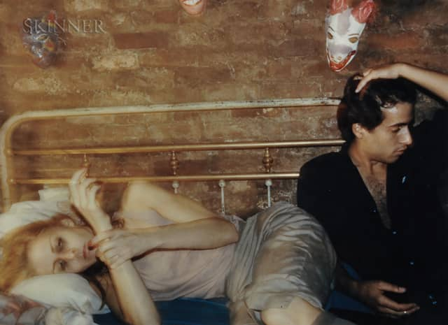 """Nan Goldin's """"Greer and Robert on the Bed, New York"""" (1982). Sold at Skinner Inc. for $12,300."""