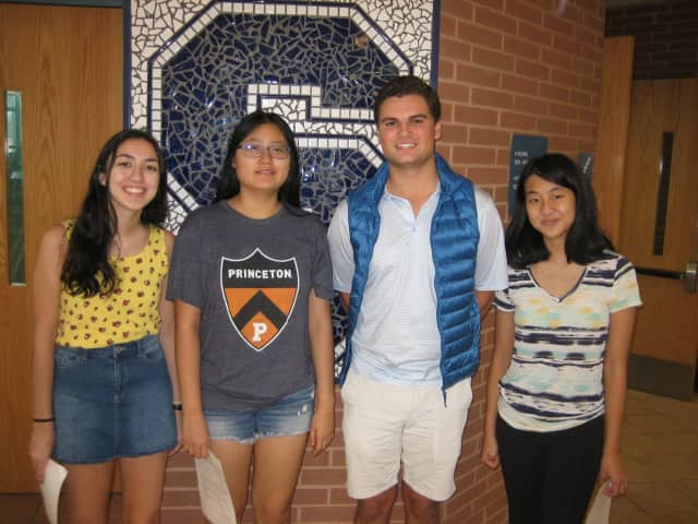 The Staples High School semifinalists are Nicole Arellano, Marshall Heiser, Leya Luo, and Jessica Xu.