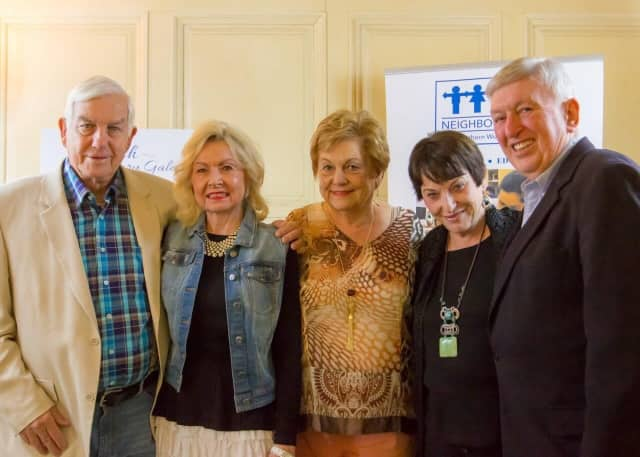 Jackson is pictured (second from left) with Doug Curry (far left), Dale Curry (third from left), Sarah Bailey (fourth from left) and Barbara's husband, Ken Jackson.