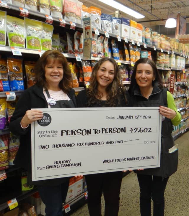 Whole Foods Market in Darien since its opening has provided donations of cash and food to benefit P2P clients.