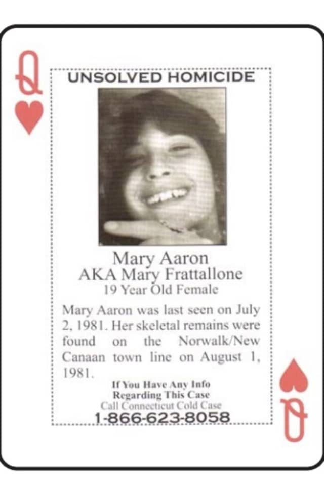 Mary Aaron is one of the unsolved murder victims included in the new cold case playing cards distributed to inmates.