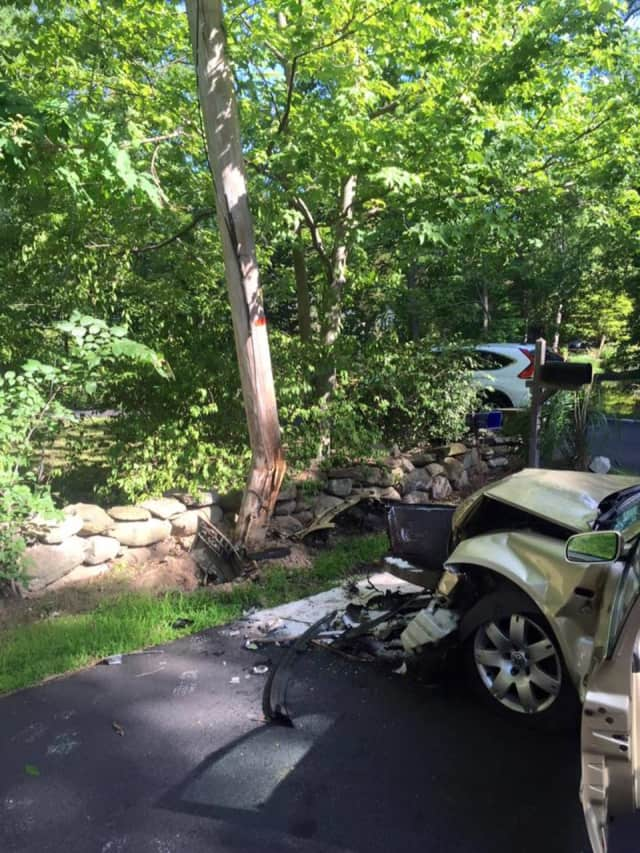 The New City Fire Department dealt with a car accident on Monday.