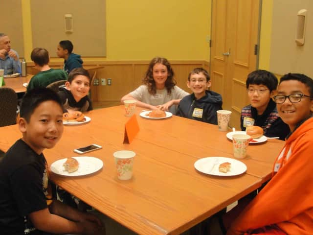 Irvington Middle School students who are new to the school district were welcomed at the annual breakfast for new families on Sept. 25.