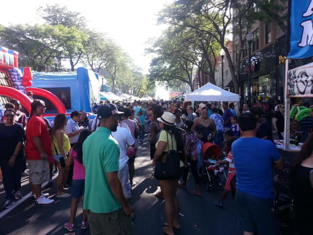 Crafters, artists, vendors and merchants will line both sides of Main Street between Centre and North avenues.