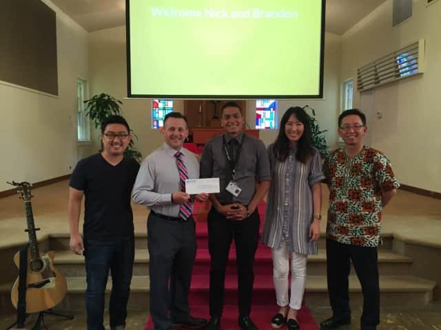 David Kim, Nick Magarelli, Brandon Loaiza, Amy Chang, Pastor Kil Jae Park