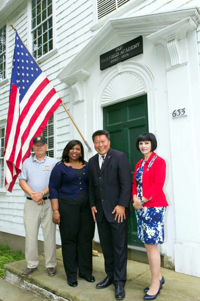 State Sen. Tony Hwang, second from right, will be the keynote speaker at a Fourth of July celebration in Fairfield.