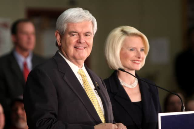 Newt and Calista Gingrich will have a book signing at Bookends Bookstore.