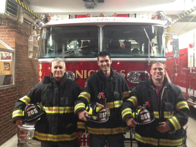 Nichols Firefighters Matthew Taormina, Andrew Banas and Brendan Murray have completed the State of Connecticut Firefighter One Class.